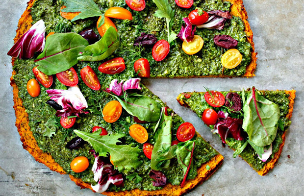 The seven vegetable pizza #GivingTuesday#India