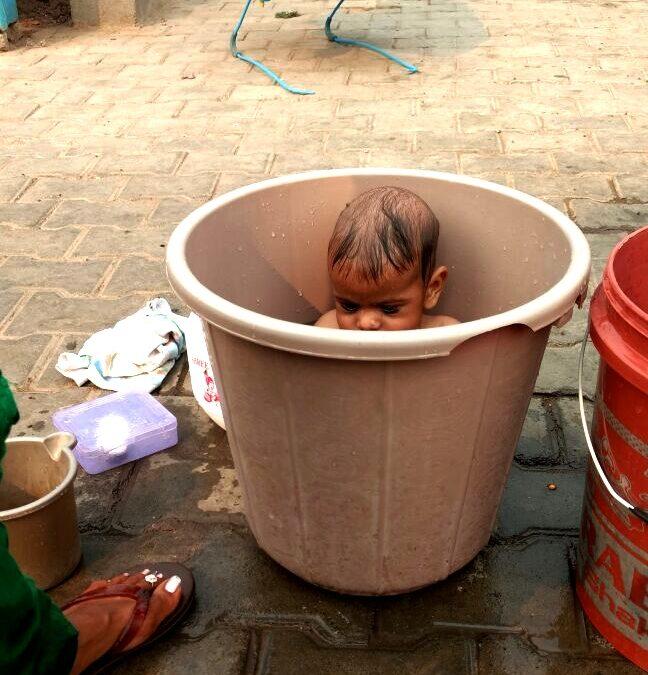 The bucket baby #India