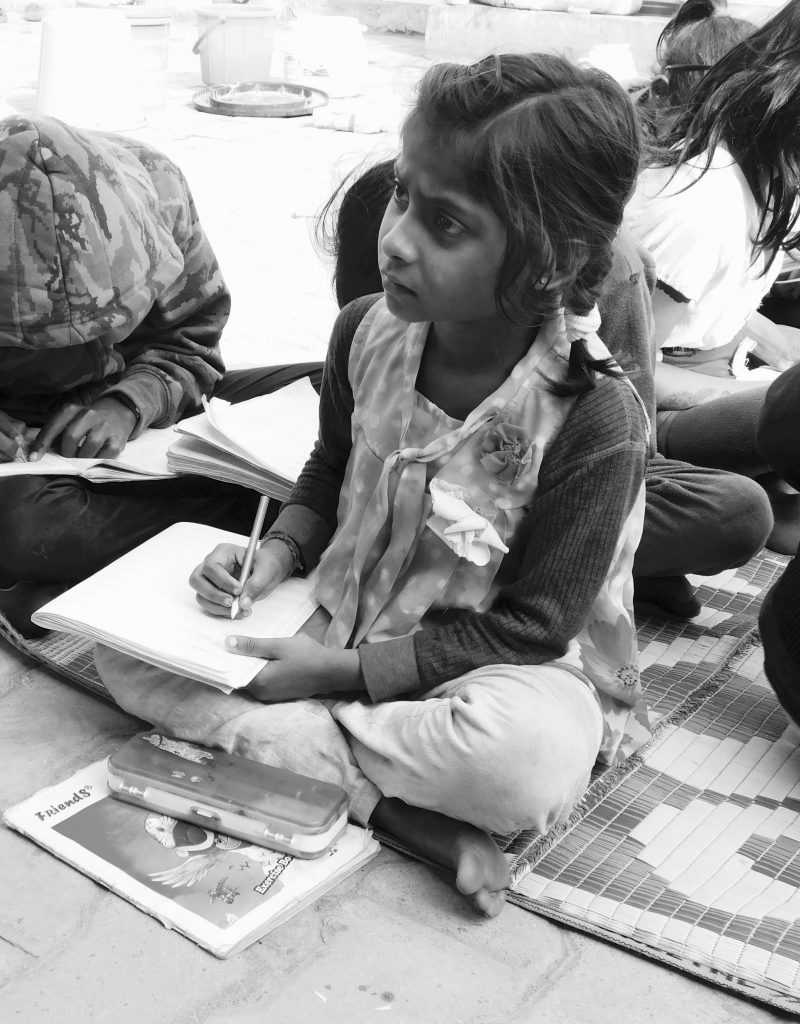 child from our Kalka temple outreach