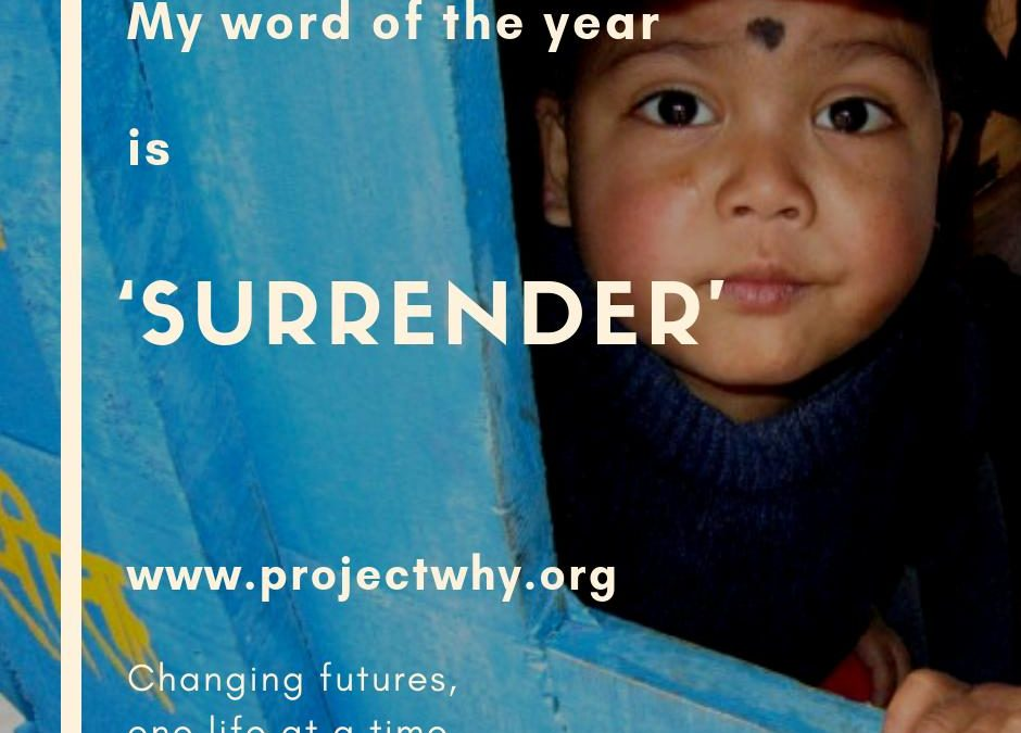 My word of the year: surrender