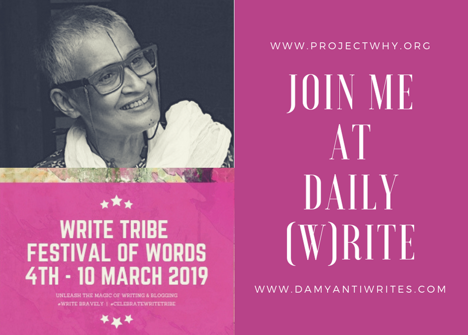 What's new Write Tribe Festival of Words: Project Why takes over Daily (w)rite!